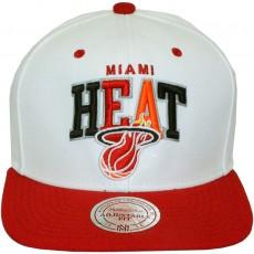 Casquette Snapback Mitchell & Ness - NBA White Tri Pop - Miami Heat