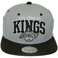 Casquette Snapback Mitchell & Ness - NHL Leather Team Arch - Los Angeles Kings
