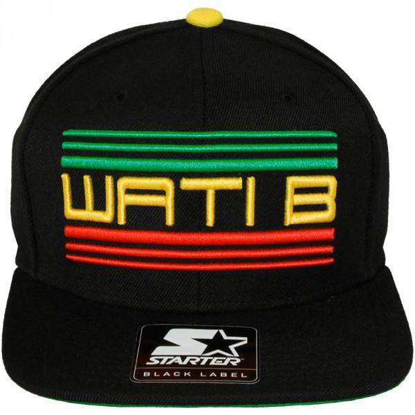 casquette snapback wati b x starter wati b logo black jamaica 2. Black Bedroom Furniture Sets. Home Design Ideas