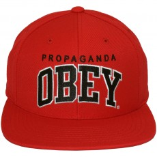 Casquette Snapback Obey - Throwback - Red-Black