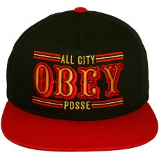 Casquette Snapback Obey - 89ers Snapback - Red-Black