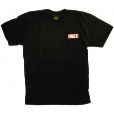 T-shirt Obey - Basic Pocket Tee - Obey Bar Used Logo - Black