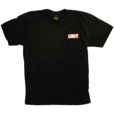 T-shirt Obey - Basic Pocket Tee - Obey Bar Used Logo - Black