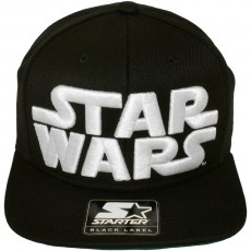 Casquette Snapback Starter x Star Wars - Star Wars Logo - Black-White