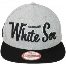 Casquette Snapback New Era - 9Fifty MLB Retro Scholar - Chicago White Sox - Black