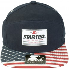 Casquette 6 Panel Hybrid Starter - Flag Visor - Red-Blue