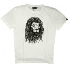 T-shirt Olow - Lion - Blanc