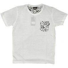 T-shirt  Space Monkeys - Revolver - White