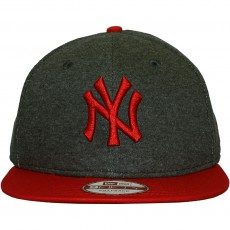 Casquette Snapback New Era - 9Fifty MLB Fleecicle - New York Yankees - Grey / Scarlet