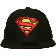 Casquette Fitted New Era x DC Comics - 59Fifty Superman Character Basic Badge - Black