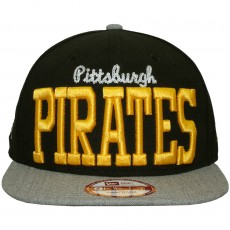 Casquette Snapback New Era - 9Fifty MLB NE V-Team - Pittsburgh Pirates - Black / Grey