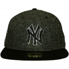 Casquette Fitted New Era - 59Fifty MLB Tweed Crest - New York Yankees - Black