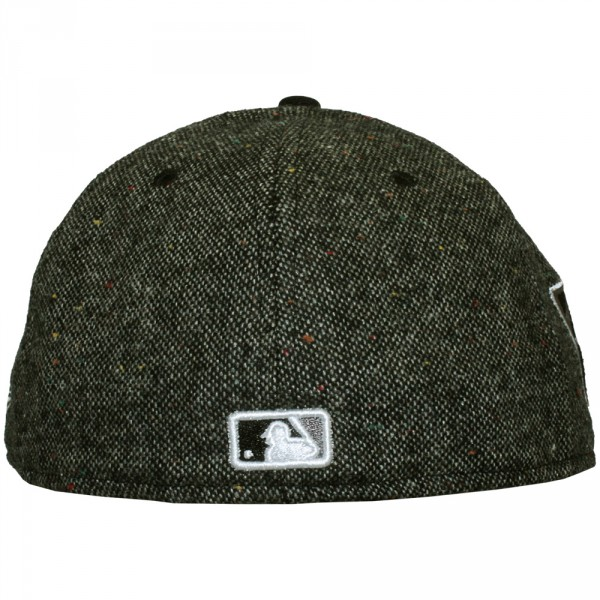 casquette fitted new era 59fifty mlb tweed crest new york yankees black. Black Bedroom Furniture Sets. Home Design Ideas
