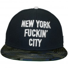Casquette Snapback Cayler And Sons - New York City - Navy / Blue Camouflage / White