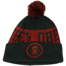 Bonnet Obey - Crowned Pom Pom Beanie - Navy / Red