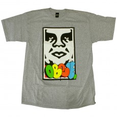 T-shirt Obey - Obey x Cope2 Takeover - Basic Tee - Heather Grey