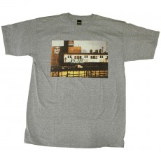 T-shirt Obey - Obey x Cope2 Subway Photo - Basic Tee - Heather Grey