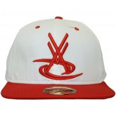 Casquette Snapback Vortex VX - VX Logo - Blanc / Rouge