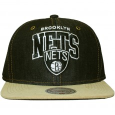 Casquette Strapback Mitchell & Ness - NBA Denim Arch Adjuster - Brooklyn Nets
