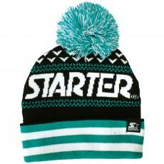 Bonnet Starter - Jaquard Bobble - Black / Teal