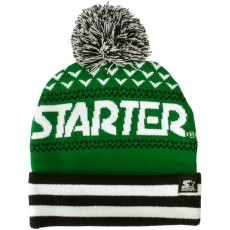 Bonnet Starter - Jaquard Bobble - Navy / Green
