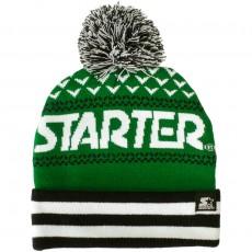 Bonnet Starter - Jaquard Bobble - Navy / Green