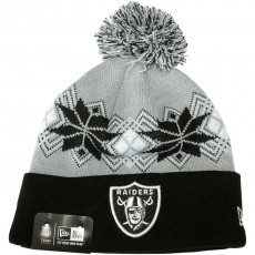 Bonnet New Era - NFL Intarsia Pom - Oakland Raiders