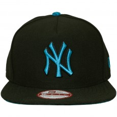 Casquette Strapback New Era - 9Fifty MLB Pop Unda - New York Yankees - Black / Blue Jewel