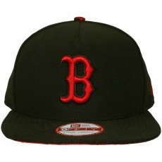 Casquette Strapback New Era - 9Fifty MLB Pop Unda - Boston Red Sox - Black / Scarlet