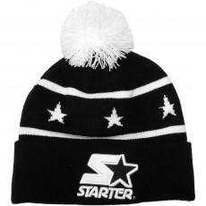 Bonnet Starter - Star Beanie - Black / White
