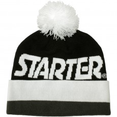 Bonnet Starter - Wrap Beanie - Black / White