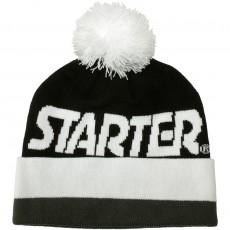 Bonnet Starter - Wrap Beanie - Black / White