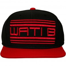 Casquette Snapback Wati B - Basic Logo - Black/Red