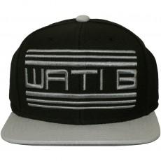 Casquette Snapback Wati B - Basic Logo - Black/Grey