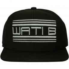 Casquette Snapback Wati B - Metallic Logo - Black/Silver