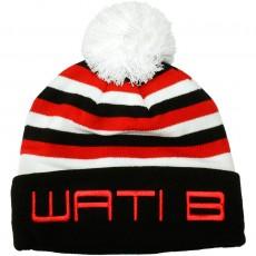 Bonnet Wati B - Stripe Beanie - Black/Red