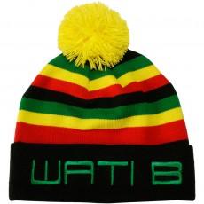 Bonnet Wati B - Stripe Beanie - Black/Jamaica