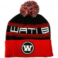 Bonnet Wati B - Triple Beanie - Black/Red