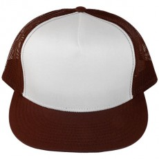 Casquette Filet Yupoong - Marron / Front blanc