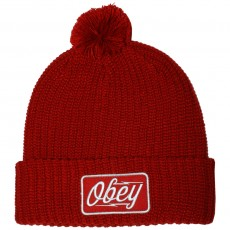 Bonnet Obey - Gasoline Pom Pom Beanie - Red