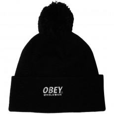 Bonnet Obey - Worldwide Pom Pom Beanie - Black