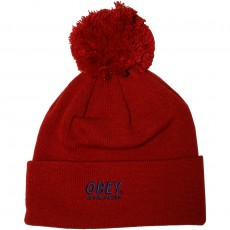 Bonnet Obey - Worldwide Pom Pom Beanie - Red