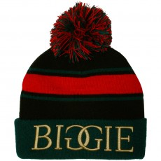 Bonnet Cayler And Sons - Biggie Pom Pom Beanie - Black / Green / Red