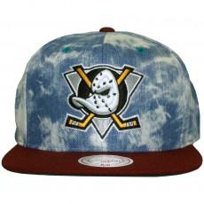 Casquette Snapback Mitchell & Ness - NHL Acid Wash Denim 2 Tone - Anaheim Mighty Ducks