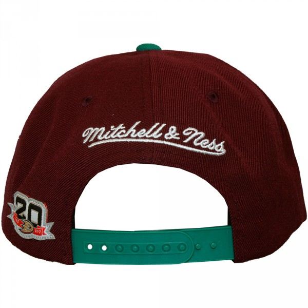 Casquette Snapback Mitchell   Ness - NHL Basic 2 Tone Patch Logo - Anaheim  Mighty Ducks 5d541bfa4cb