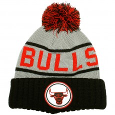 Bonnet Mitchell & Ness - NBA Grey High 5 Cuffed Knit - Chicago Bulls