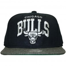 Casquette Snapback Mitchell And Ness - NBA Flannel - Chicago Bulls - Navy/Grey