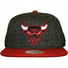 Casquette Snapback Mitchell And Ness - NBA Reverse Wool - Chicago Bulls - Black/Red
