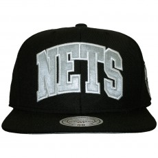 Casquette Snapback Mitchell And Ness - NBA Satin Arch - Brooklyn Nets - Black