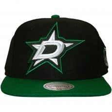 Casquette Snapback Mitchell And Ness - NHL XL Logo 2 Tone - Dallas Stars - Black
